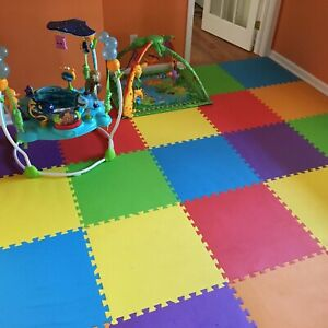 Green Ameesi Soft Baby Kids Interlocking Foam Puzzle Floor Mat Exercise House Office Play Mat