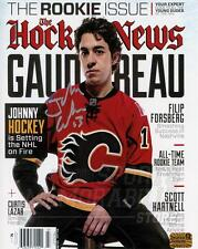 Johnny Gaudreau Calgary Flames Signed Autographed Hockey News Cover 8x10