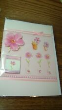 ALL OCCASION 3D CUSTOM Handmade Card BLANK inside w/Ribbon Fabric,Glitter,Beads