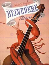 Publicité belvedere hotel casino homard cello davos art imprimé posterabb 5709B