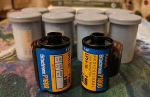 10 Rolls Kodak Ektachrome P1600, Stored Frozen, ISO 1600 Slide Film