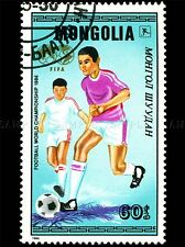 MONGOLIA VINTAGE POSTAGE STAMP SOCCER FOOTBALL PHOTO ART PRINT POSTER BMP1676A
