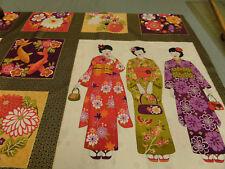 "Patchwork tissu ""kimono"" Panell 60 x 110 cm 100% coton"
