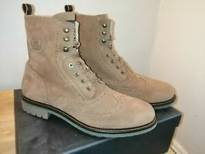 Scotch And soda Natron Suede Brogues Boots, New Size 10