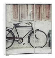 Armario zapatero con compartimento color blanco 129x120x24 cm