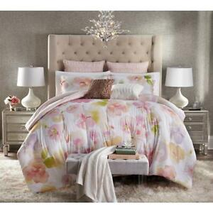 Jaclyn Smith California Dreaming Floral Blush Coral 5-Pc KING Comforter Set