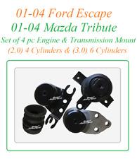 01-04 Ford Escape Mazda Tribute 2.0 3.0 4pc Engine Motor Right  Auto Trans Mount