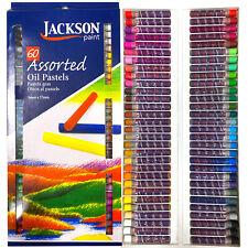 60 Brilliant Colours! Jackson Paint Artists Soft Oil Pastels Sticks Art Pastel