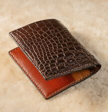 Handmade Real Alligator Crocodile Leather Skin Men's Mini Wallet