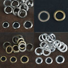 Pack 20/50 Silver Brass Black 12/14/17mm Eyelet Grommet w/Washer Banner Craft US