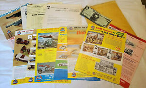 1971 Vintage AHM Model Toy Advertising P-38 Cars Airplanes Train Old Timers +