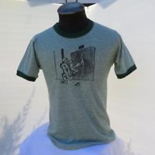 Vintage Men's T-shirt - E-Crew Animals - Cool Worker Graphic - Men's Large !