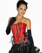 Satin Lace Up Red Basques & Corsets for Women