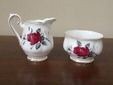 Royal Albert SWEET ROMANCE Mini Creamer & Mini Open Sugar Bowl Set