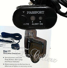 Passport Escort Radar Smart Cord Direct Wire with Mute Blue Led * Brand New *