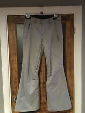 """O'Neill Men's Large Grey White Snow Ski Trousers Salopettes Snowboard Lined 36"""""""