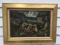 Listed Danish Artist Anders Hune Oil/Canvas