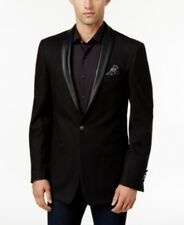 Tallia Men's Slim-fit Black And Brown Striped Suit 40R 33W New $650 New