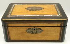 Antique Inlaid Marquetry, Boulle & Mother of Pearl Box Lot 47A
