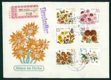 GERMANY DDR R-COVER 1982 FLOWERS AUTUM INSCETS BUTTERFLIES h4572