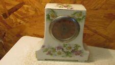 Antique China Porcelain Flowers Shelf Clock