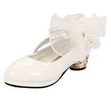Leather Shoes Girl High Heel Shoes Dance Dress Shoes Girls Crystal Sandals