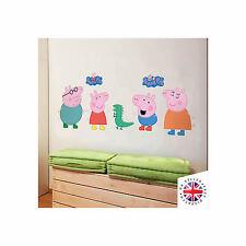 PEPPA PIG Muro ARTE Adesivo Vinile Camera da letto Cartoon Bambini Ragazzi Ragazze Bambini