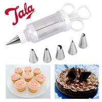 Icing Set Syringe 6 Nozzles Piping Cake Baking Press Tube Fresh Cream Decoration