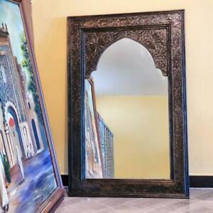 1 Meter Moroccan Mirror, boho decor, entrance Mirror, Handmade Craft, luxury
