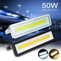 50W COB LED Lampe Projecteur Floodlight Lampe Éclairage Jardin Extérieur Étanche