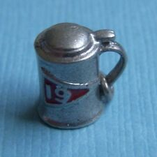 stein golf sterling charm Vintage enamel 19th hole beer