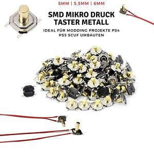 Micro Button Print Switch Push Button Micro Switch SMD PS4 PS5 Scuf Mod