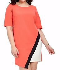 Signature By Robbie Bee Asymmetric Colorblock Shift Dress Size 24W