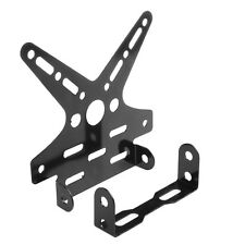 Hot Motorcycle Adjustable License Plate Holder Mount Tail Rear Bracket Black