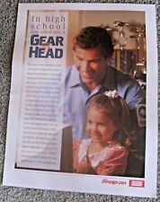 VINTAGE SNAP - ON TOOL GEAR HEAD ADVERTISING POSTER ~ SHOP MAN CAVE GARAGE
