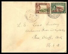 DOMINICA ROSEAU  MAY 10 1947 COVER TO PINE BLUFF AK USA