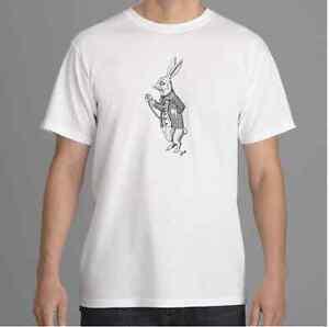 Alice in Wonderland T shirt, White Rabbit T shirt, Tim Burton Inspired Alz Assoc