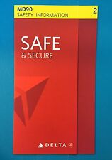 DELTA AIRLINES SAFETY CARD--MD90 LATEST VERSION--2015