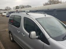 PEUGEOT PARTNER TEPEE on 2008 STYLISH ALUMINIUM ROOF RAIL BARS RACKS GREY COLOUR