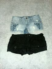 Women's Juniors Shorts Size 3/4 Denim Distressed Short Shorts Mossimo, OP...