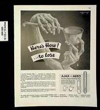 1943 Ajax & Aero Sanitary Drinking Cups Vintage Print Ad 20219