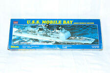 Kitech U.S.S Mobile Bay Model Ship Motor Driven Aegis Missile Cruiser - VINTAGE
