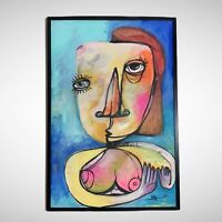 "PAINTING ORIGINAL ACRYLIC ON CANVAS (FRAME INCLUDED) CUBAN ART 24""X36"" by Lisa."