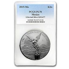 2015 Mexico 1 kilo Silver Libertad Proof Like-70 PCGS - SKU #93351