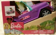 Barbie Purple Jeep Vehicle with Rolling Wheels Gmt46