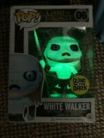 RARE White Walker GLOW GITD GOT Funko Pop Vinyl New in Mint Box + Hard Protector