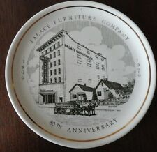Vintage PALACE FURNITURE Company Clarksburg WV Collectors Plate - Made in USA