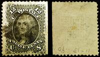#90 12c Black 1868 ::E-Grill:: Used Scuffs Rare CV $400++