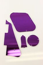Purple Mirror Pickguard, Covers + Truss rod cover set fits Gibson Les Paul