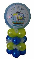 BLUE & YELLOW BOY CHRISTENING FOIL BALLOON DECORATION KIT